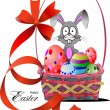 Basket with Easter eggs — Stockvectorbeeld