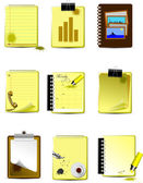 Vector Nine Office and Business icons — Stock Vector