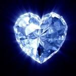 Heart of diamond on the black backgroun — Stock Photo