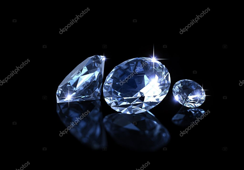 diamond on the black background — Stock Photo #3419422