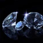 diamenty na czarny deseń — Zdjęcie stockowe