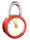 Lock & watch — Stock Photo