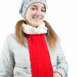 Girl in wintry clothes — Stock Photo #2695026