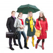 In wintry clothes with bag — Stock Photo #2695343