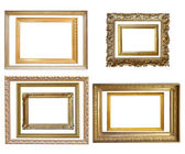 Vintage gold picture frame — Stockfoto