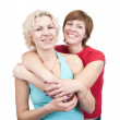 Portrait of two happy girls — Stock Photo #2700156