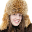 Royalty-Free Stock Photo: Portrait of girl in fox cap