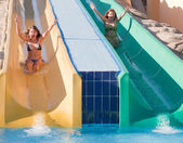 Girls in swimming pool — Stock Photo