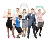 Successful businessteam — Stock Photo