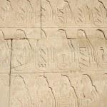 Hieroglyphic in the Temple of Karnak — Stock Photo