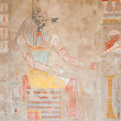 Anubis. Drawing on wall — Stock Photo