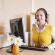Woman working at the office — Stock Photo #2719205