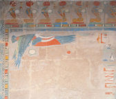 Decor at the Hatshepsut Temple — Stock Photo