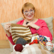 Knitting senior woman — Stock Photo #2720469