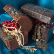 Two treasure chests — Stock Photo