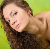 Curly long haired girl — Stock Photo