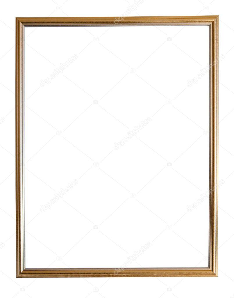Gold Thin Frame Glasses : Modern thin gold picture frame Stock Photo ? Jim_Filim ...