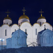 Assumption cathedral in winter night — Stock Photo