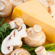 Champignon mushroom with cheese - Stock Photo