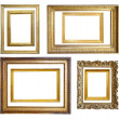 Стоковое фото: Set of Vintage gold picture frame
