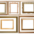 Royalty-Free Stock Photo: Gold picture frames