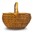 Empty wicker basket - Foto Stock