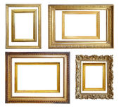 Set of Vintage gold picture frame — Stockfoto