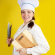 Female cook — Stock Photo