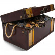 Treasure chest over white — Stock Photo #3104684
