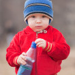 Little boy drinking water — Stock Photo #3105270