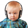 Small boy with headphones o — Stock Photo #3107118