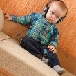 Little boy with headphones — Stock Photo #3107152