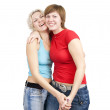 Happy girlfriends — Stock Photo