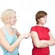 Young women in quarrel — Foto de Stock