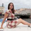 Girl on boat — Stock Photo #3108848