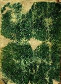 Pasta vintage verde para papel — Fotografia Stock