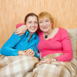 Portrait of two happy women — Stock Photo