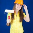 Royalty-Free Stock Photo: Girl with paint rollers