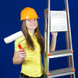 Royalty-Free Stock Photo: Female house painters