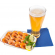 Fried shrimps and beer — Stock Photo #3114859