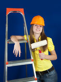Female painter — Stock Photo