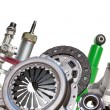 Stock Photo: Borders of automotive parts