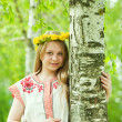 Girl in traditional clothes — Stock Photo