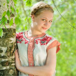 Girl in traditional clothes - Stockfoto