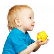 Boy with pear — Stock Photo #3407576
