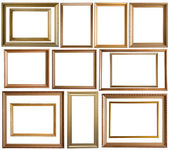 Gold picture frames — Stock Photo