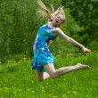 Jumping teen girl — Stock Photo