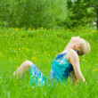 Royalty-Free Stock Photo: Girl rests on the grass