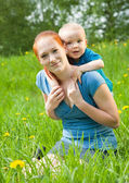 Happy mother with child — Stock Photo