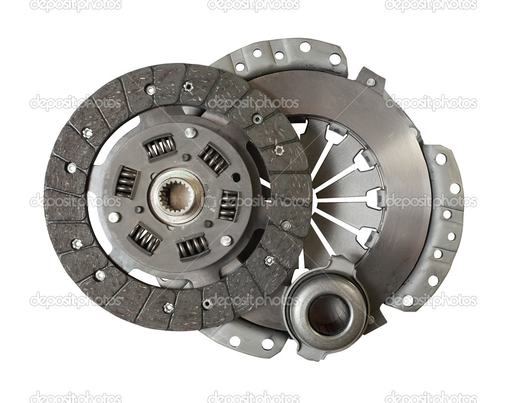 Car engine clutch. Isolated on white with clipping path — Stock Photo #3414465